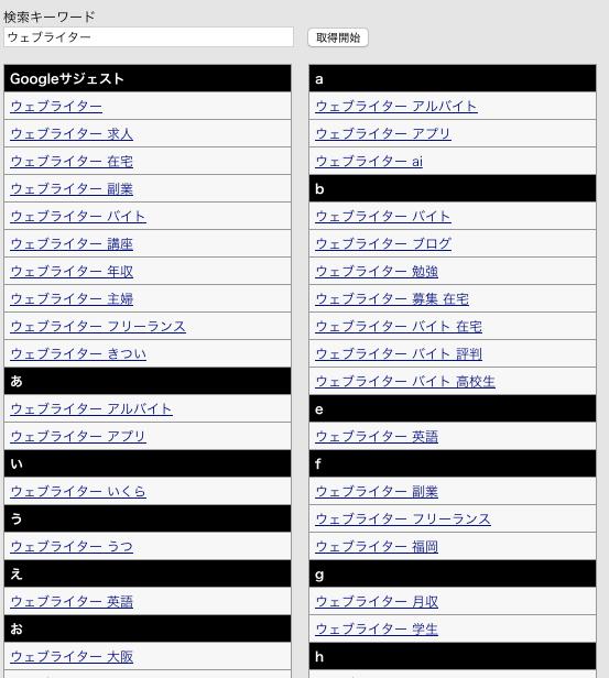 福山 WEBライティングに使うグーグルサジェスト